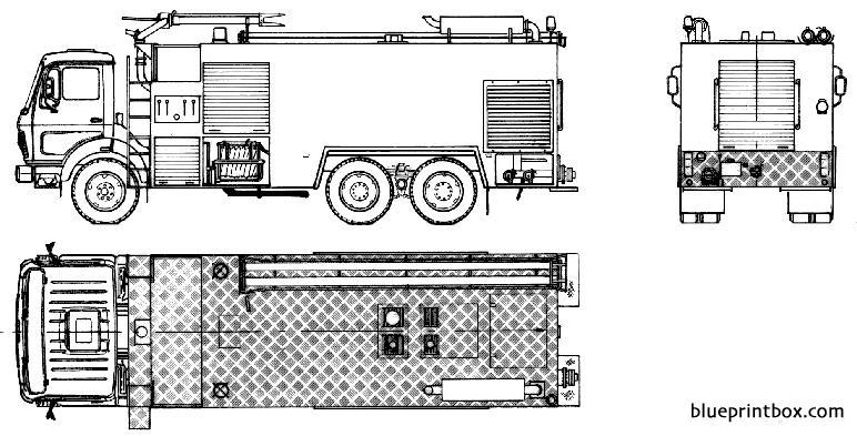 Mercedes Benz L2232 Fire Truck 1983