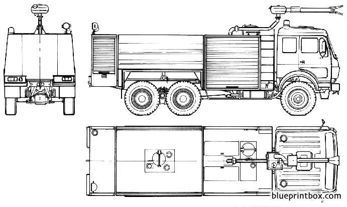 Mercedes Benz L2636 A Fire Truck 1986