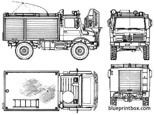 mercedes benz unimog u1300l fire truck 1981 - BlueprintBox ...