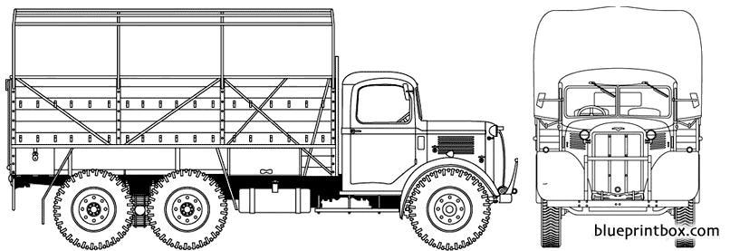 Austin K3 Yf 3 Ton 6x4 - Blueprintbox Com