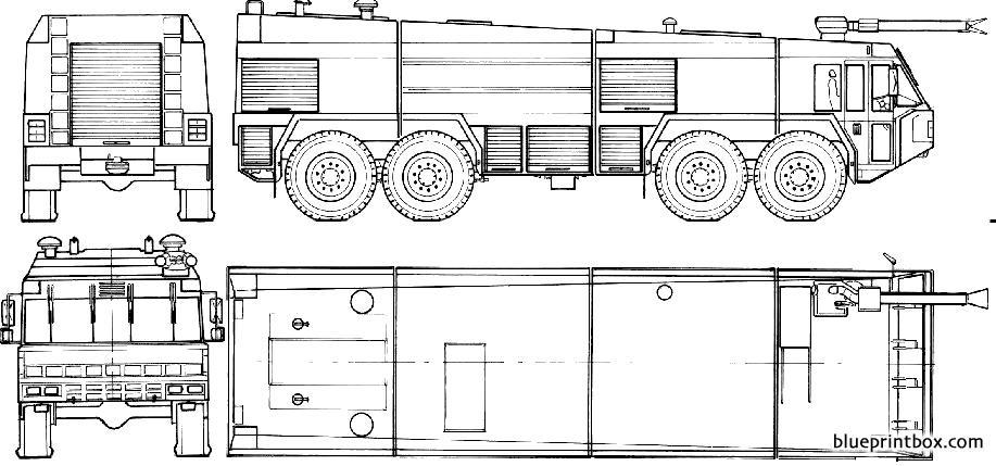 Titan 441250 8x8 Rosenbauer Fire Truck 1985