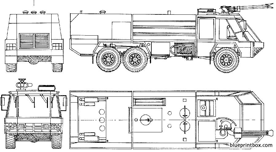 Titan Rosenbauer Simba Fire Truck 1985