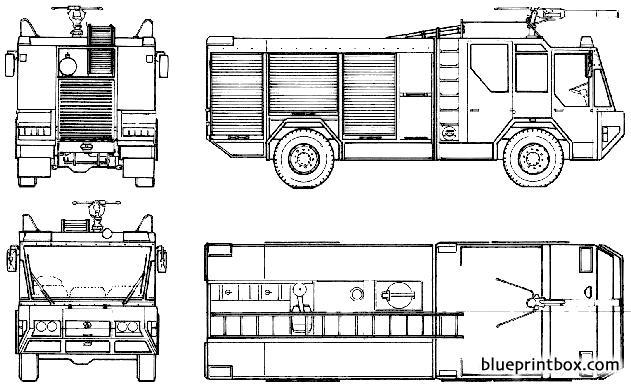 Titan Tlf Falcon Rosenbauer Fire Truck 1986