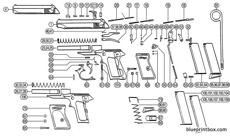 walther pp parts diagram 3 1 kenmo lp de \u2022walther ppk diagram wiring  diagrams source