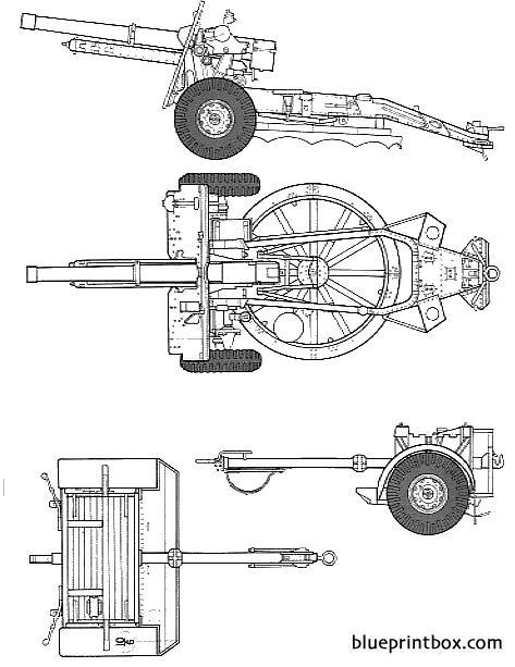25 Pdr Field Gun - Blueprintbox Com