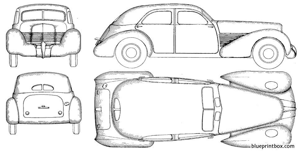 Cord 810 Sedan 1935 02 - Blueprintbox Com