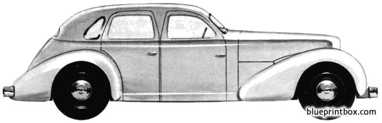 Cord Prototype Sedan 1935 - Blueprintbox Com