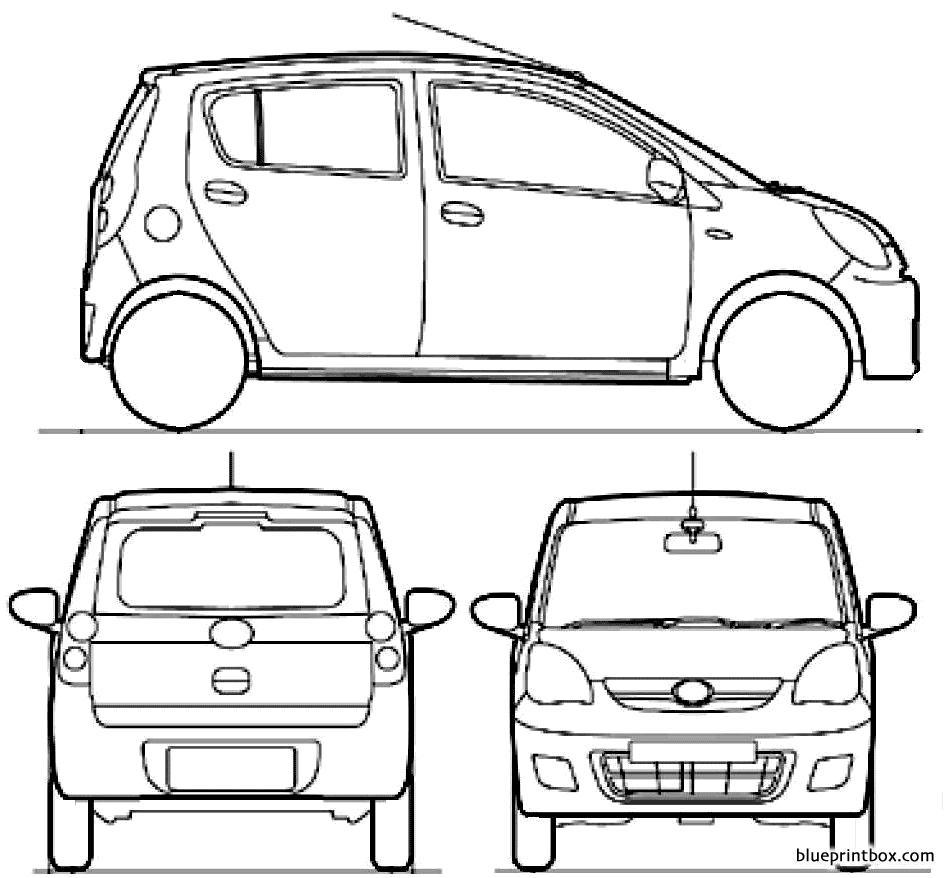 Daihatsu Cuore 2010 - Blueprintbox Com