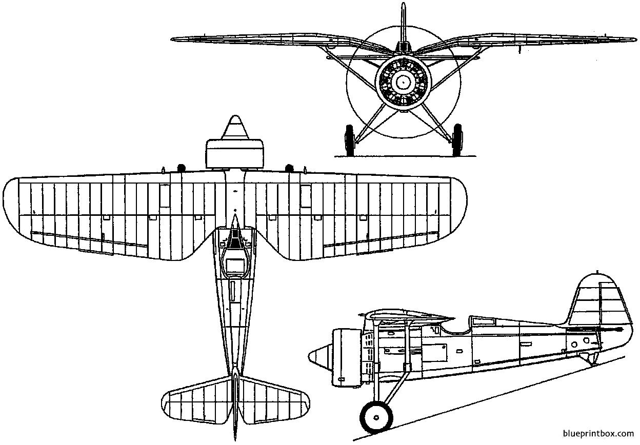 [ CINEMA4D ] (WIP) Avion PZL P11c (Pologne 1931) Pzl-p11-1931-poland