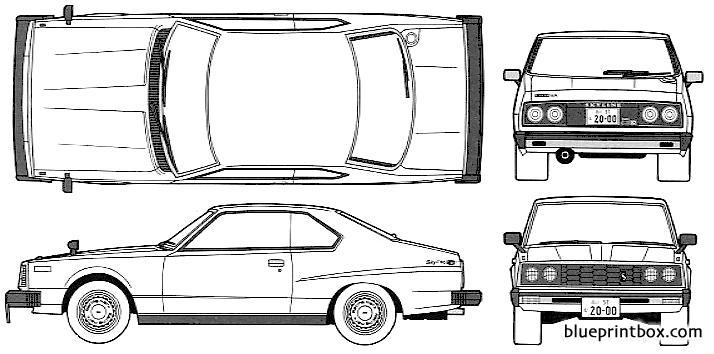 Datsun Skyline 240k 2000 Gt Es - Blueprintbox Com