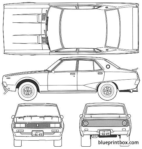 Datsun Skyline 240k 4 Door C110 - Blueprintbox Com