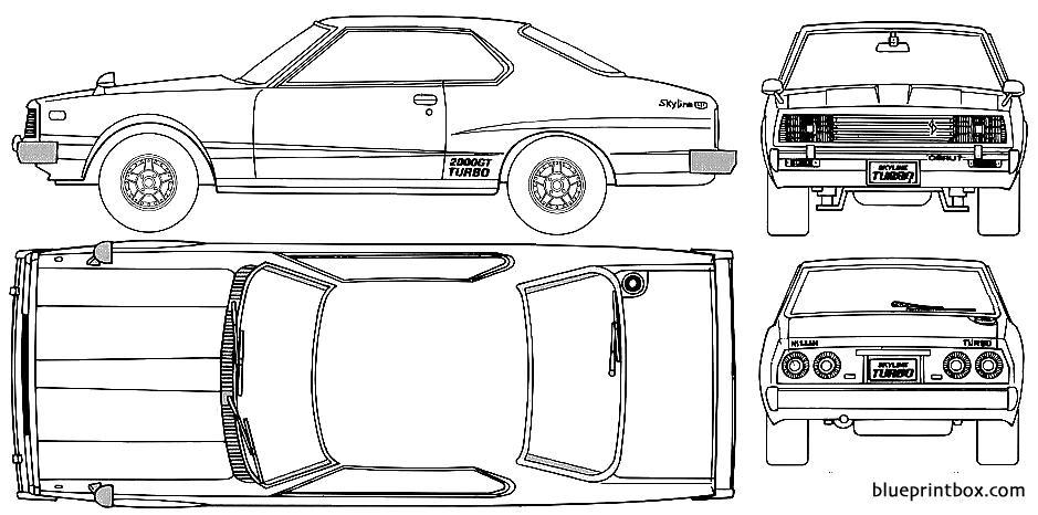 Datsun Skyline C210 240k 1977 - Blueprintbox Com