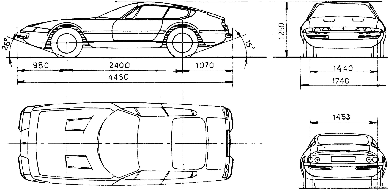 Ferrari 365 Gtb 1969 - Blueprintbox Com