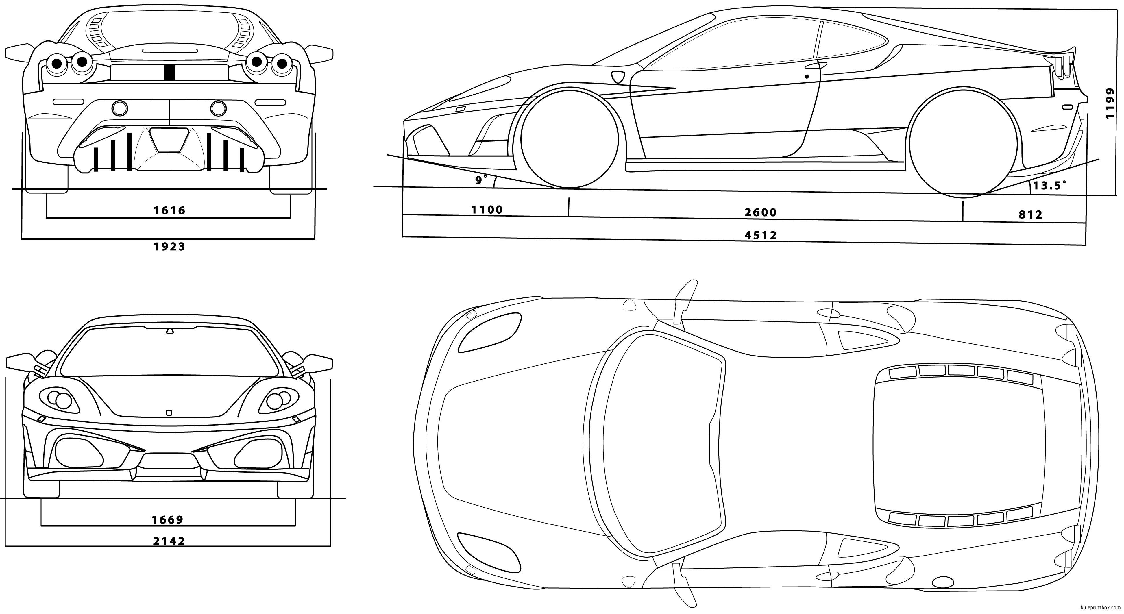 Ferrari F430 3 - Blueprintbox Com