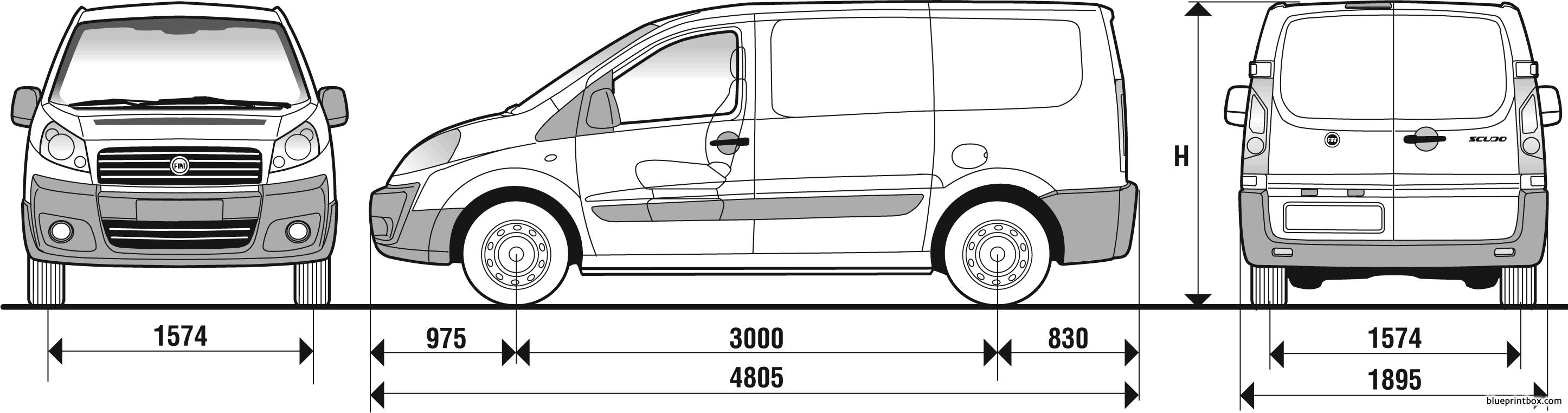 Fiat Scudo Panelled Van 2007 - Blueprintbox Com