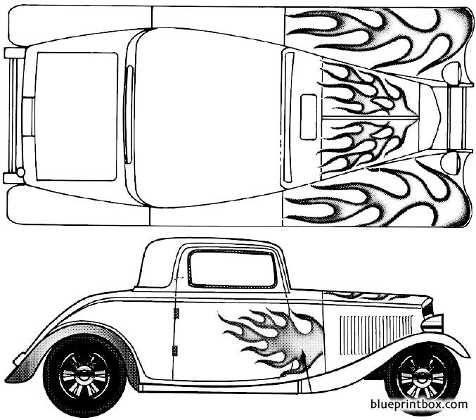 Ford 3 Window Coupe 1932 - Blueprintbox Com