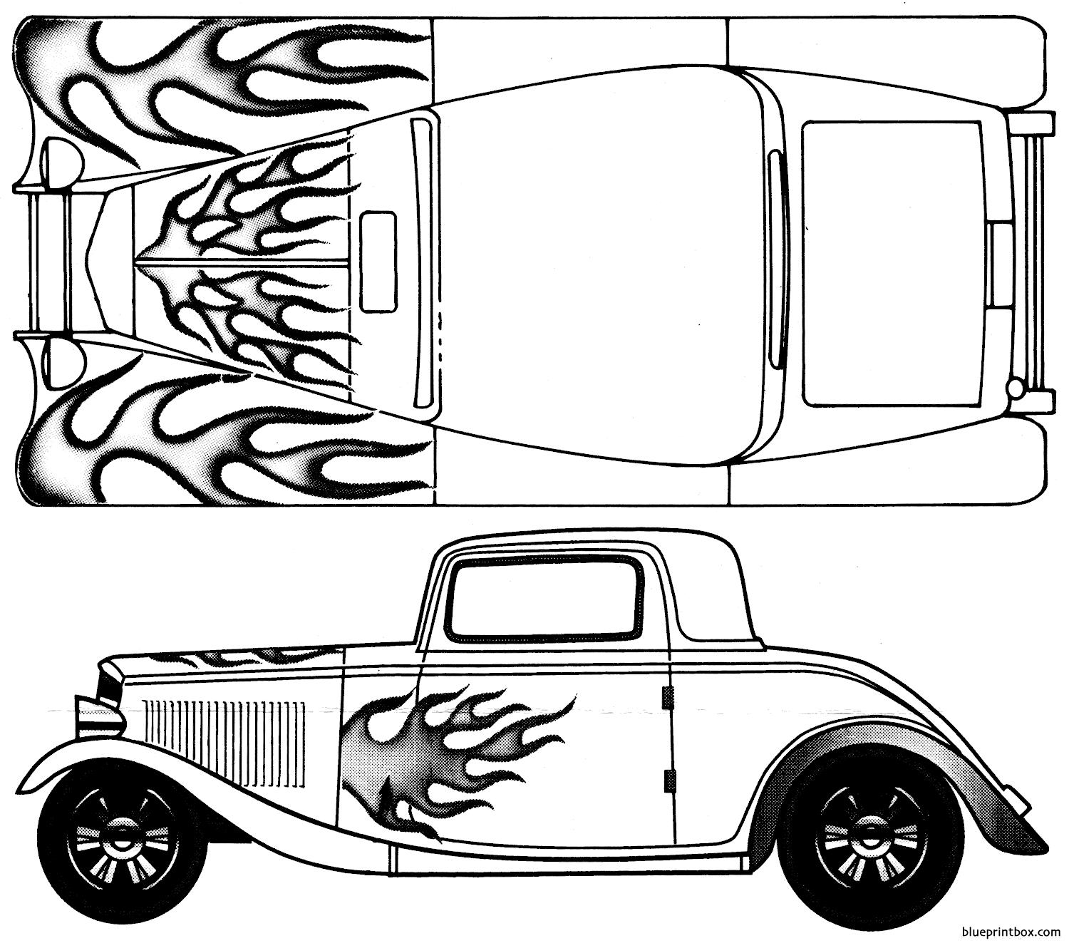 Ford 32 3 Window Coupe - Blueprintbox Com