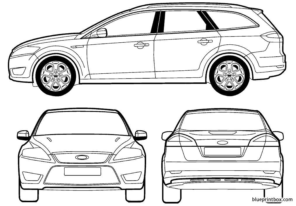 Ford E Mondeo Iii Estate 2007 - Blueprintbox Com