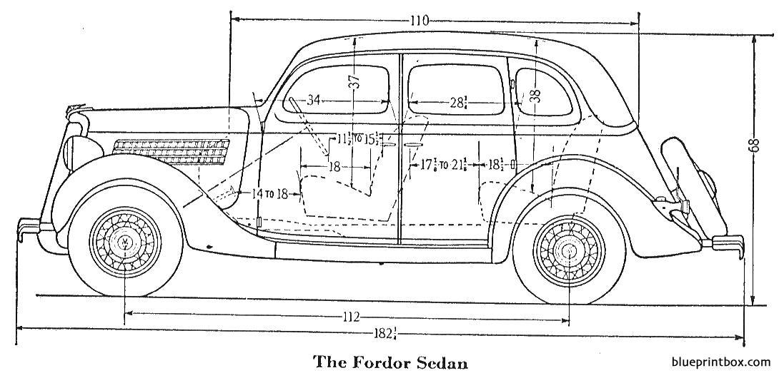 Ford Fordor Sedan 1935 - Blueprintbox Com