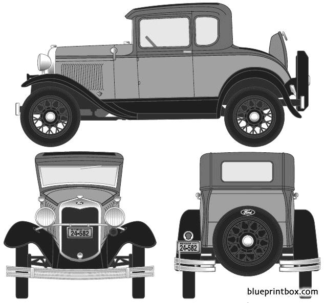 Ford Model A 5 Window Coupe 1930 - Blueprintbox Com