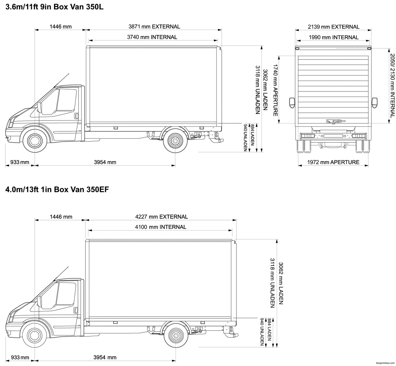 Ford Transit Box Van 350 2008 - Blueprintbox Com