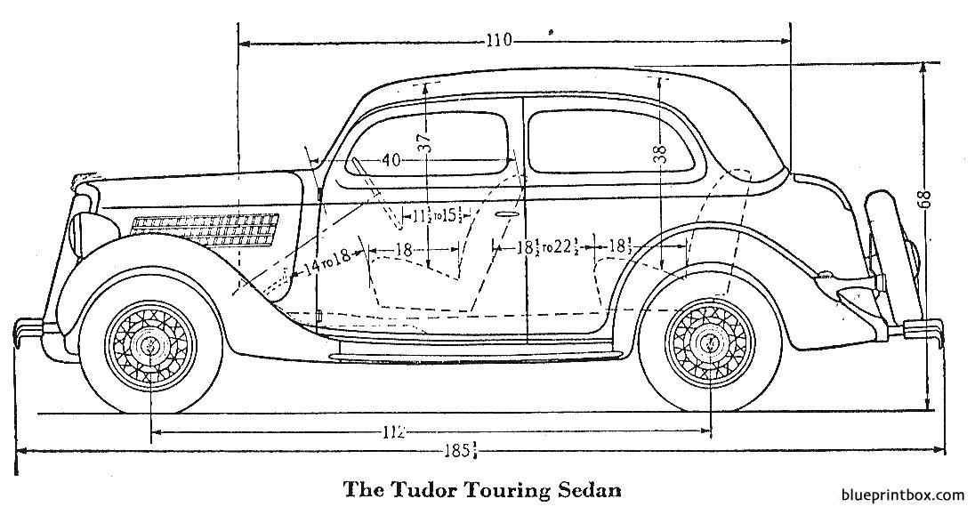 Ford Tudor Touring Sedan 1935 - Blueprintbox Com