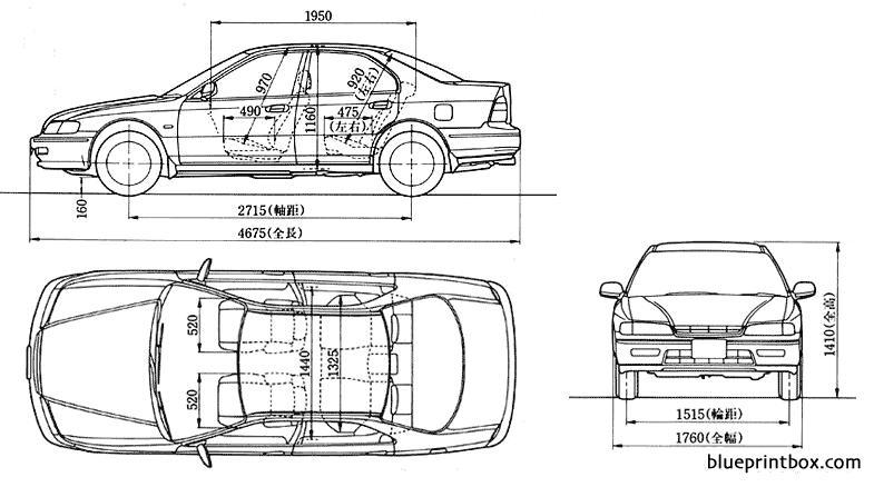 Honda Accord 1993 - Blueprintbox Com