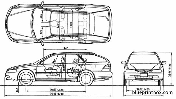 Honda Accord 1997 - Blueprintbox Com
