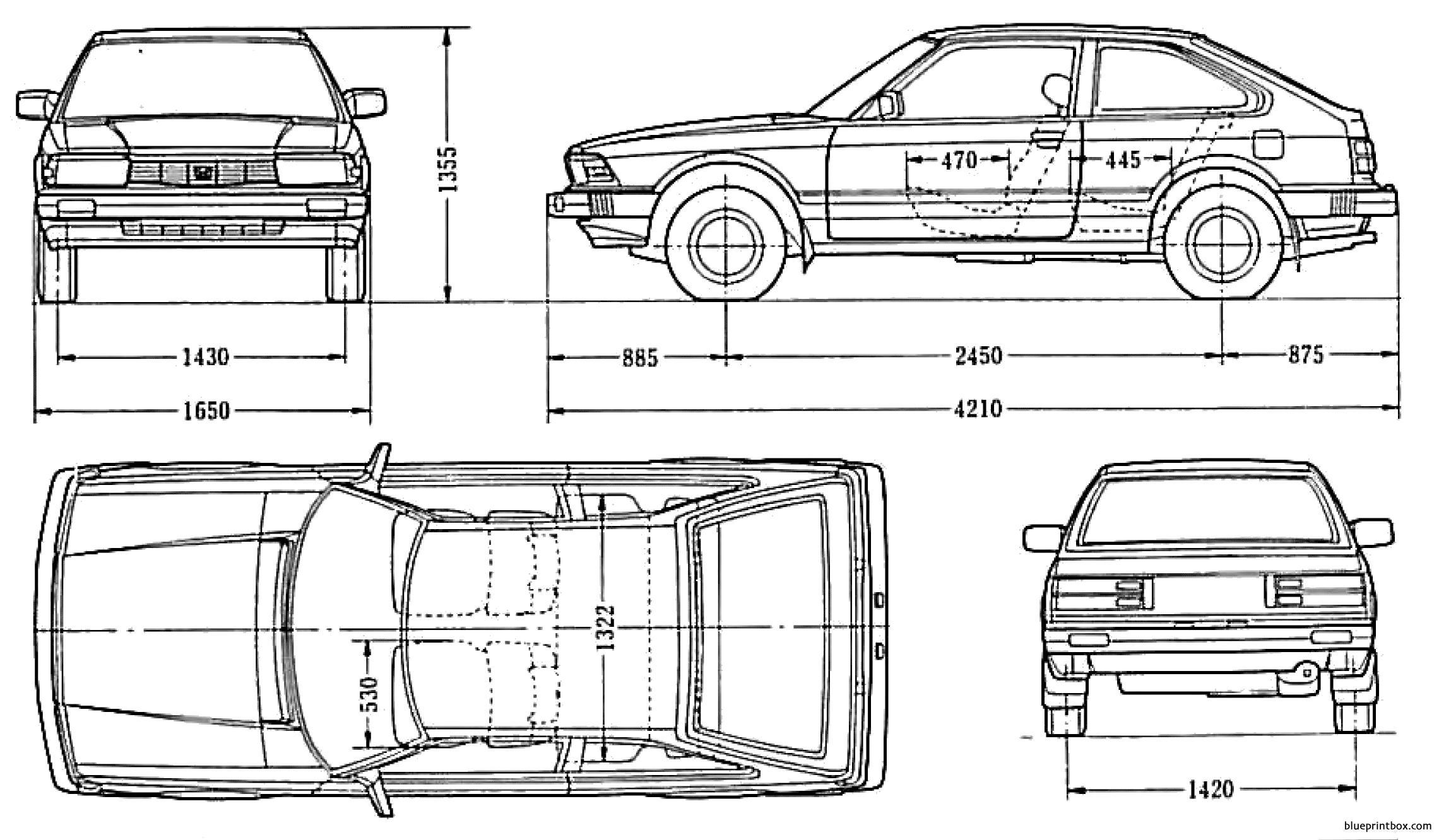 Honda Accord Hatch 1982 2 - Blueprintbox Com