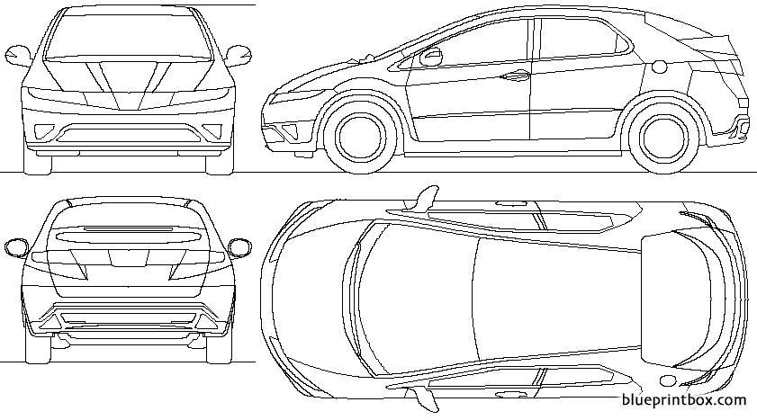 Honda Civic 5 Door 2006 2 - Blueprintbox Com