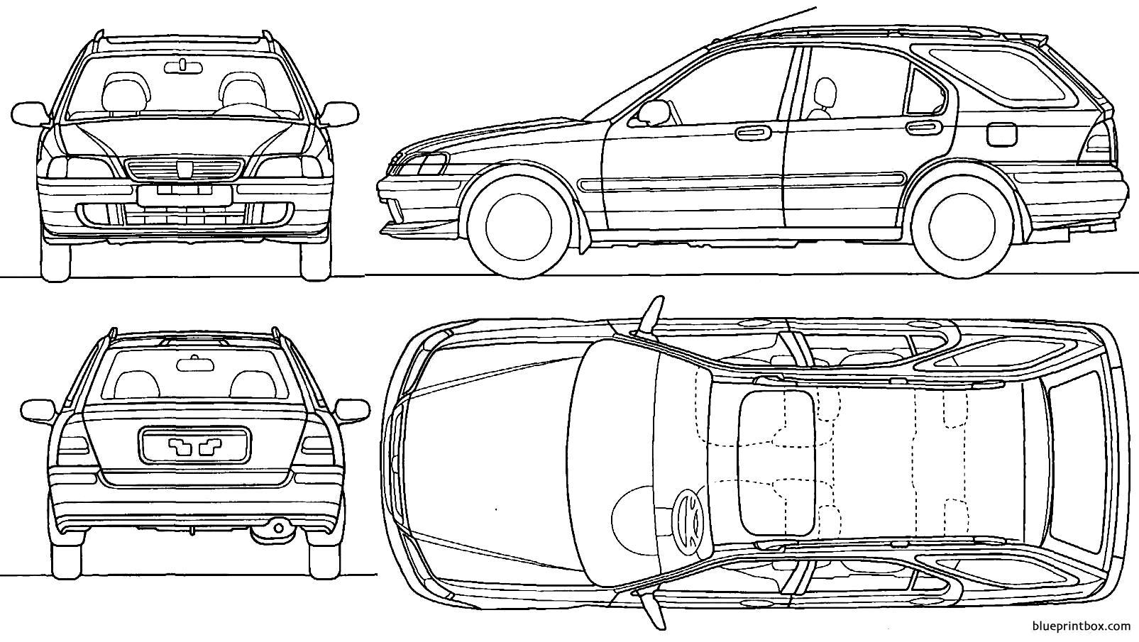 Honda Civic Aerodeck 1998 - Blueprintbox Com