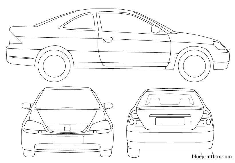 Honda Civic Coupe - Blueprintbox Com
