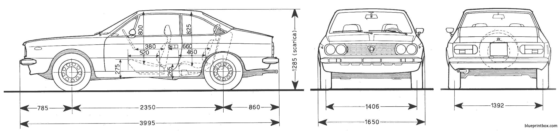 Lancia Beta Coupe 3 - Blueprintbox Com