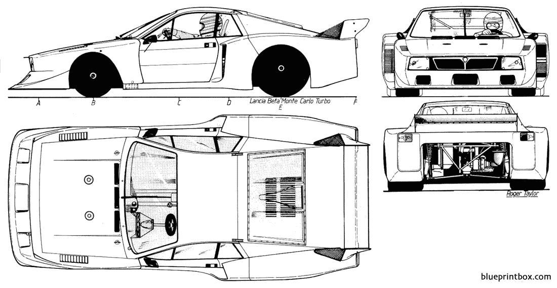 Lancia Beta Monte Carlo Turbo - Blueprintbox Com