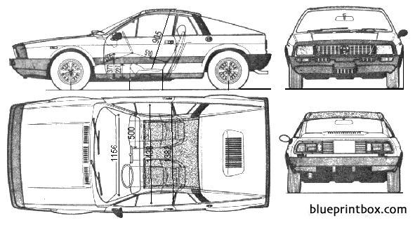 Lancia Beta Monte Carlo - Blueprintbox Com