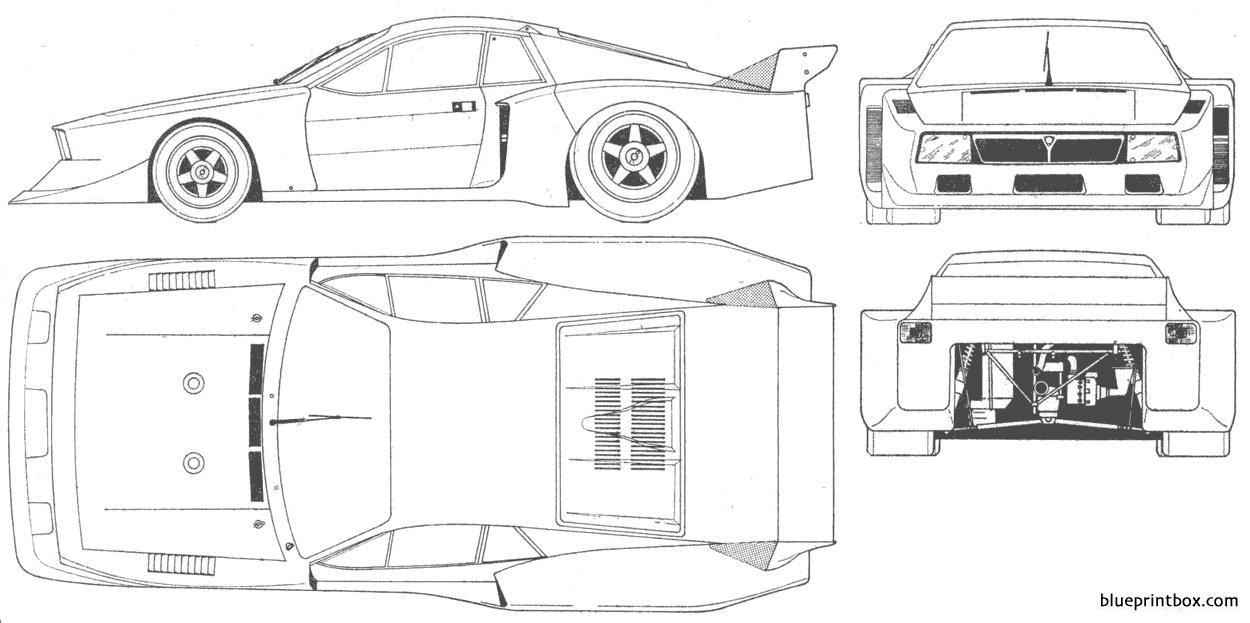 Lancia Beta Montecarlo Turbo - Blueprintbox Com