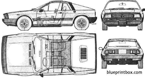 Lancia Scrpion Monte Carlo - Blueprintbox Com