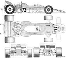 lotus ford 72 f1 gp 1970