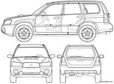 Subaru Justy J10 5 Door 1984 Blueprintbox Com Free Plans And