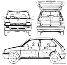 subaru justy 5 door awd 1987