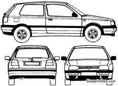 Volkswagen golf 3 door 1995 blueprintbox free plans and volkswagen golf 3 door 1995 malvernweather Image collections