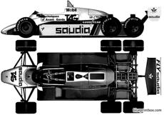 williams fw08b f1 1982 six wheels
