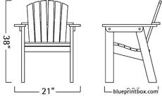 adirondack occasional chair