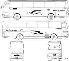 mitsubishi aero queen highway bus