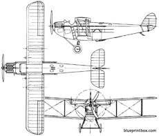 de havilland dh34 1922 england