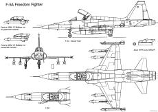 northrop f 5a freedom fighter 5
