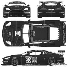 aston martin dbr9 lemans 2005 no58