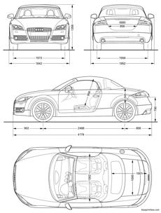 Blueprintbox free plans and blueprints of cars trailers audi tt roadster 2008 malvernweather Choice Image