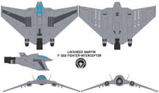 lockheed martin f 302 fighter interceptor