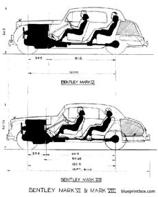 bentley mk vi and mk viii elevation drawing